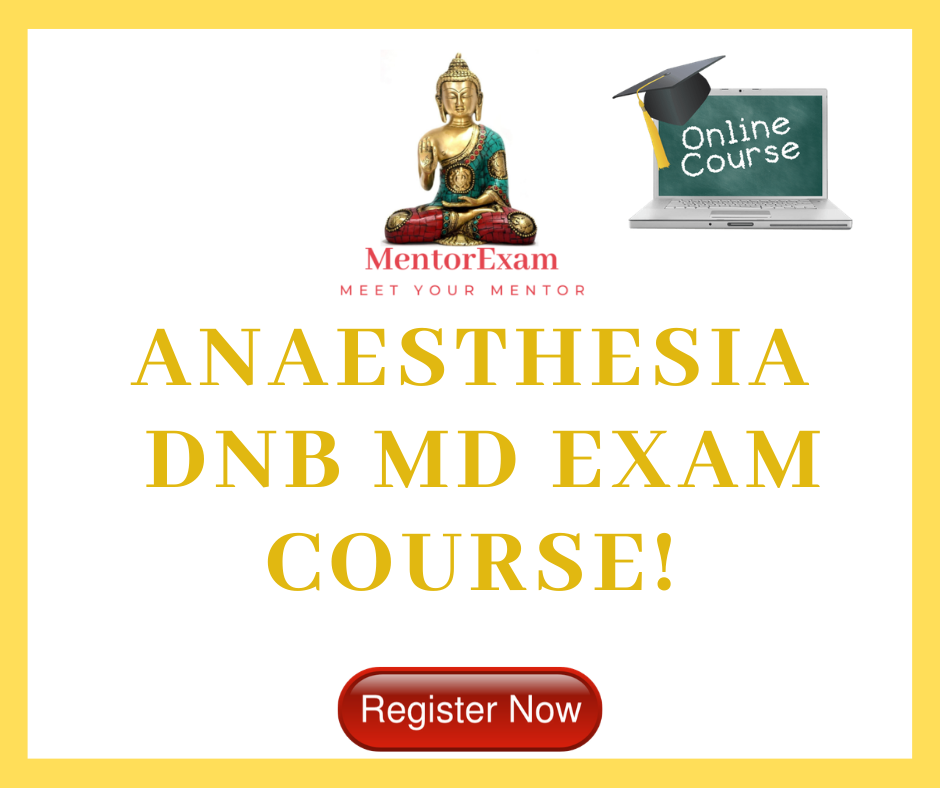 Anaesthesia DNB MD theory Exam Online Course Solved question bank