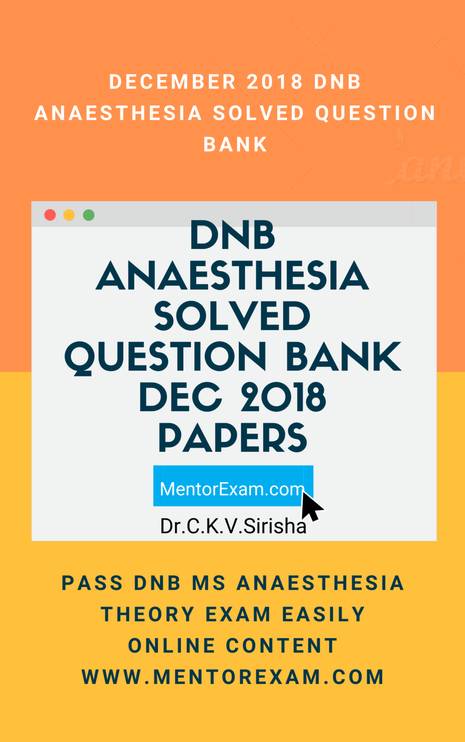 Dec 2018 DNB ANAESTHESIA Solved Question Bank online
