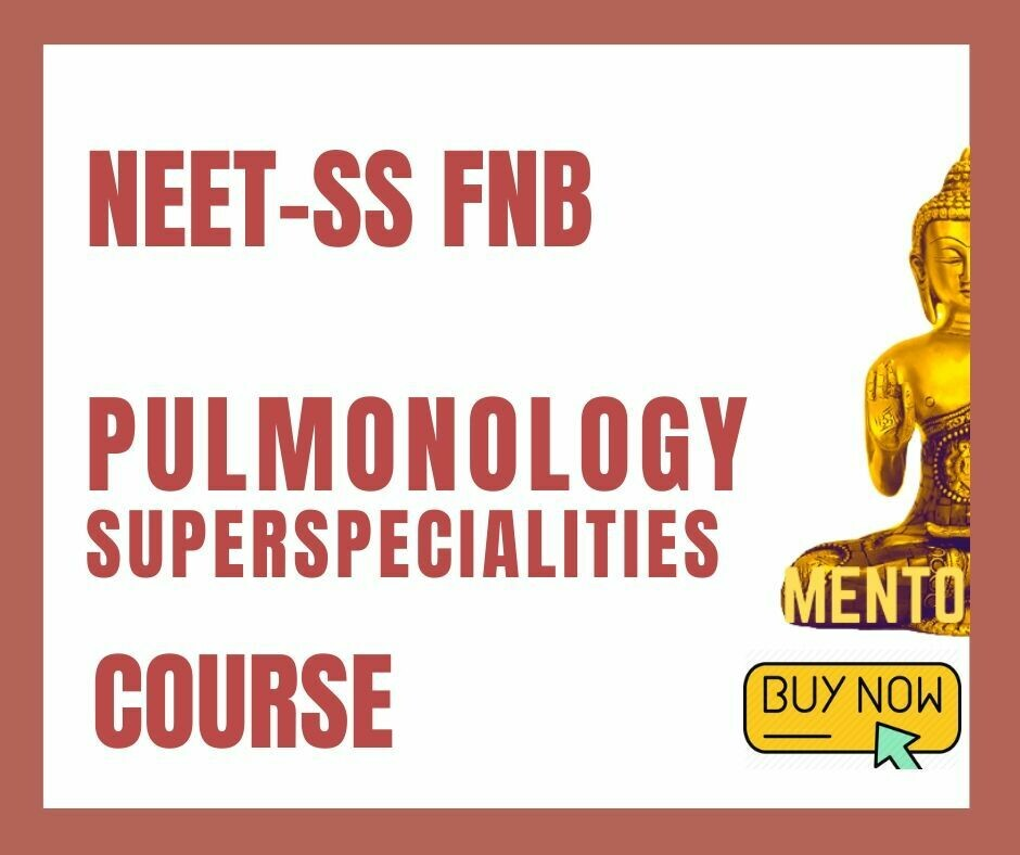 NEET-SS FNB Pulmonary Medicine Pulmonology respiratory mcq question bank mock exam course