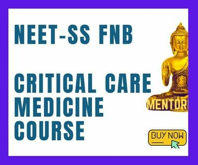 NEET-SS FNB Critical care medicine mcq question bank mock exam course