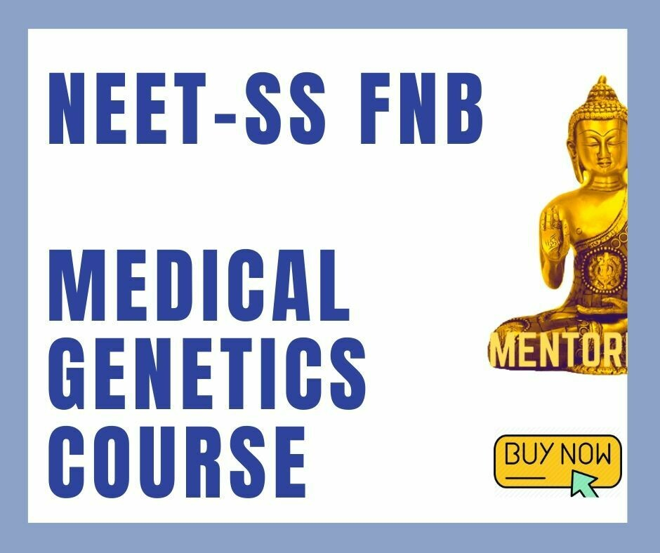 NEET-SS FNB Medical genetics mcq question bank mock exam course