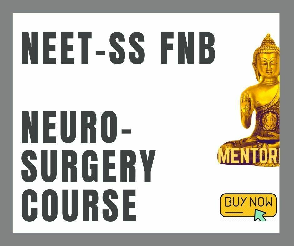 NEET - SS FNB NEUROSURGERY mcq question bank mock exam course