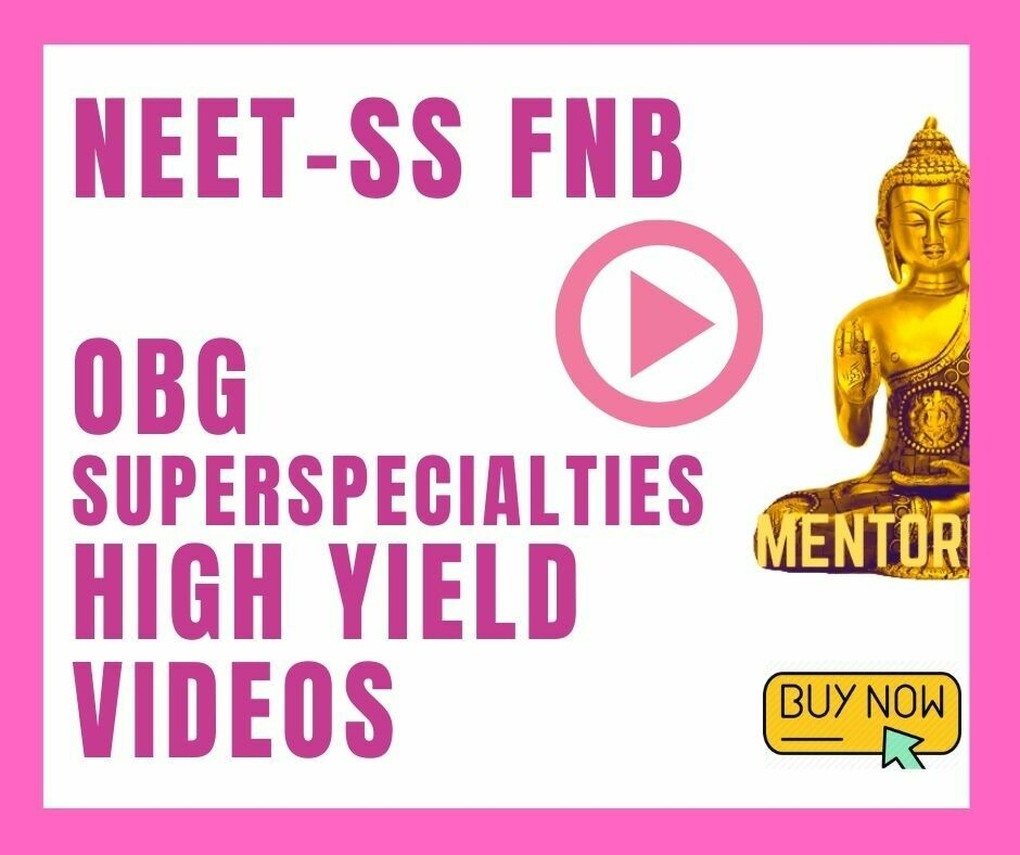 High Yield Lecture videos on Important topics for NEET SS Obstetrics & Gyneacology Superspecialty exam 2020 android app only