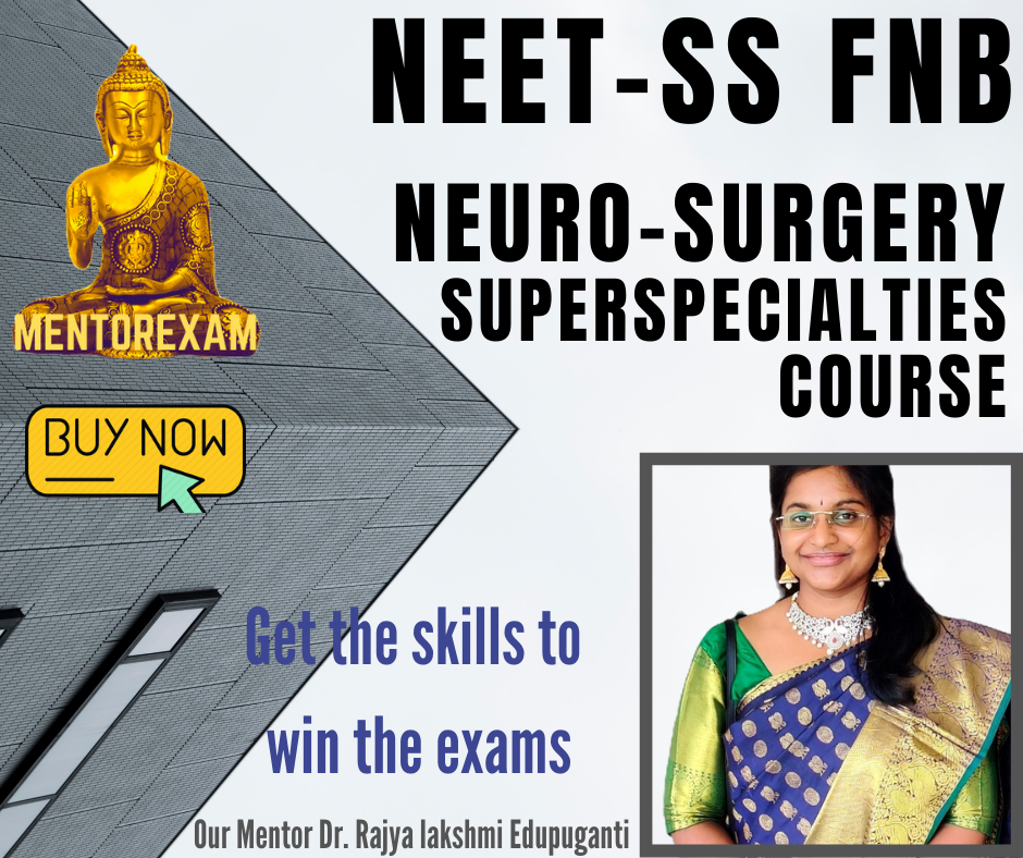 NEET - SS FNB NEUROSURGERY mcq question bank mock exam course