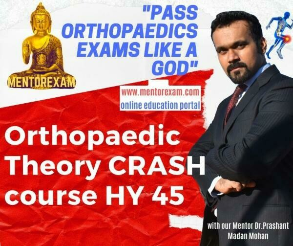 DNB MS Orthopaedics Theory Crash Course 45 High yield Topics