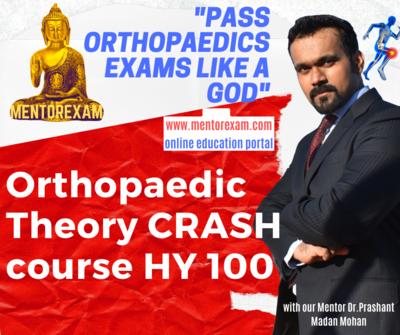 DNB MS Orthopaedics Theory Crash Course 100 High yield Topics