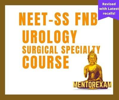 NEET-SS FNB MCh Urology Mcq Mock Exam Course