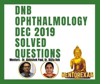 OPHTHALMOLOGY DNB December 2019 Solved Question Paper bank