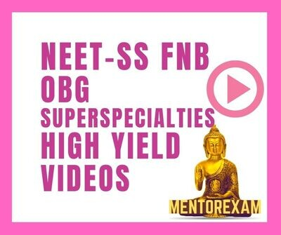 High Yield Lecture videos on Important topics for NEET SS Obstetrics & Gyneacology Superspecialty exam
