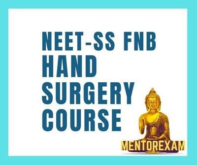 NEET-SS FNB Hand&Micro Surgery mcq question bank mock exam course