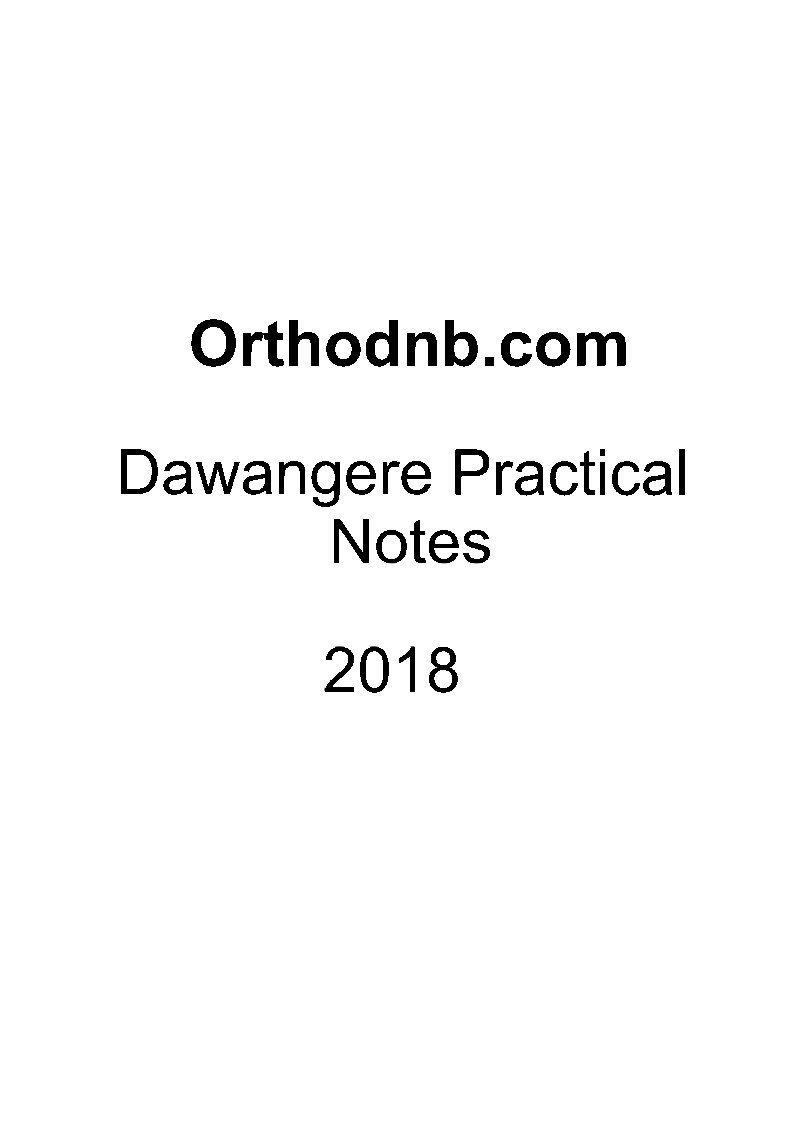 Davangere Orthopaedics practical examination Notes
