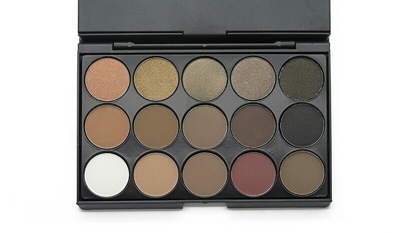 15 piece eyeshadow (earth tone colors/ 10 mattes 5 shimmers)
