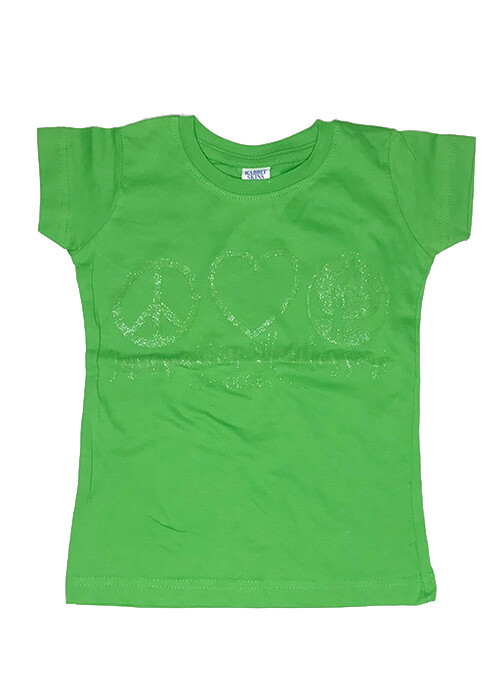 Light Green Peace & Love T-Shirt