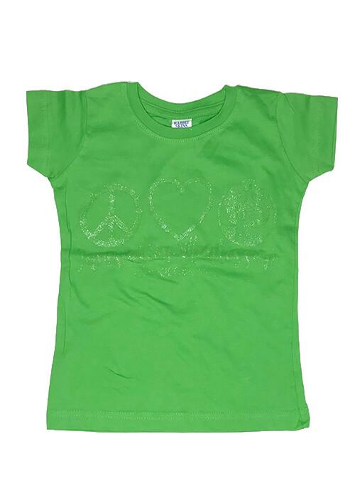 Light Green Peace & Love T-Shirt