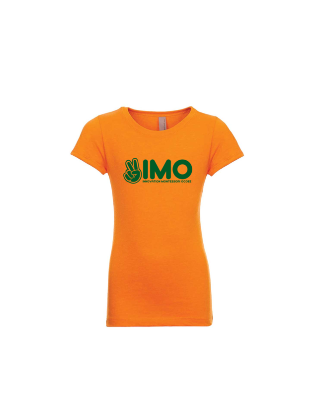 Orange Peace Hand Fitted T-Shirt