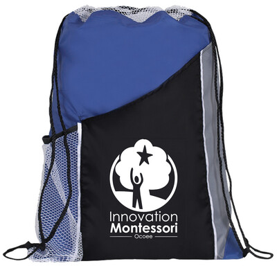 Royal Blue Drawstring Bag