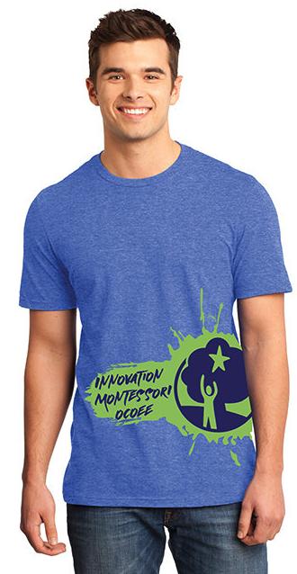 Dark Blue IMO Splash Unisex T-Shirt (Adult Only)