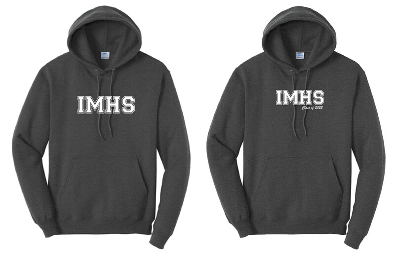 *PRE-ORDER* IMHS Charcoal Block Hoodie (add Class of for additional charge)