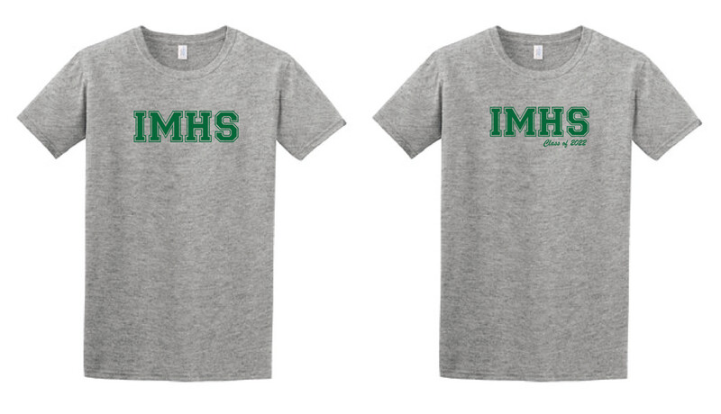 *PRE-ORDER* IMHS Gray Block Shirt (add Class of for additional charge)