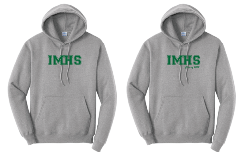 *PRE-ORDER* IMHS Gray Block Hoodie (add Class of for additional charge)