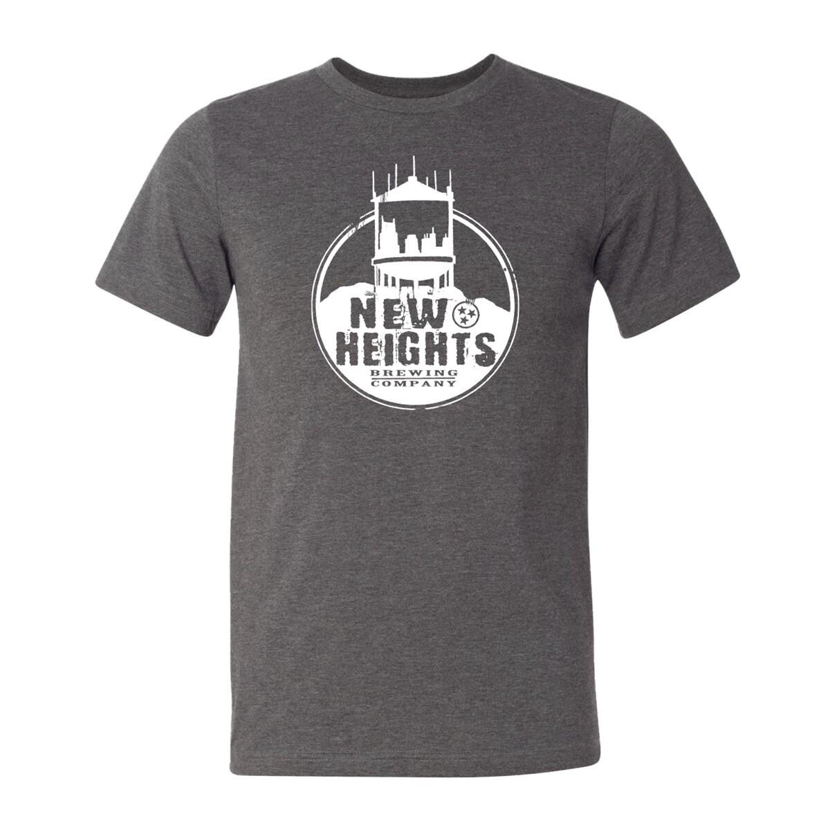 BC3001 SS T-Shirt in Heather Navy or Dark Heather Grey