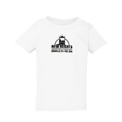 Toddler T's (white only) with Imprint NHB Logo (black ink)