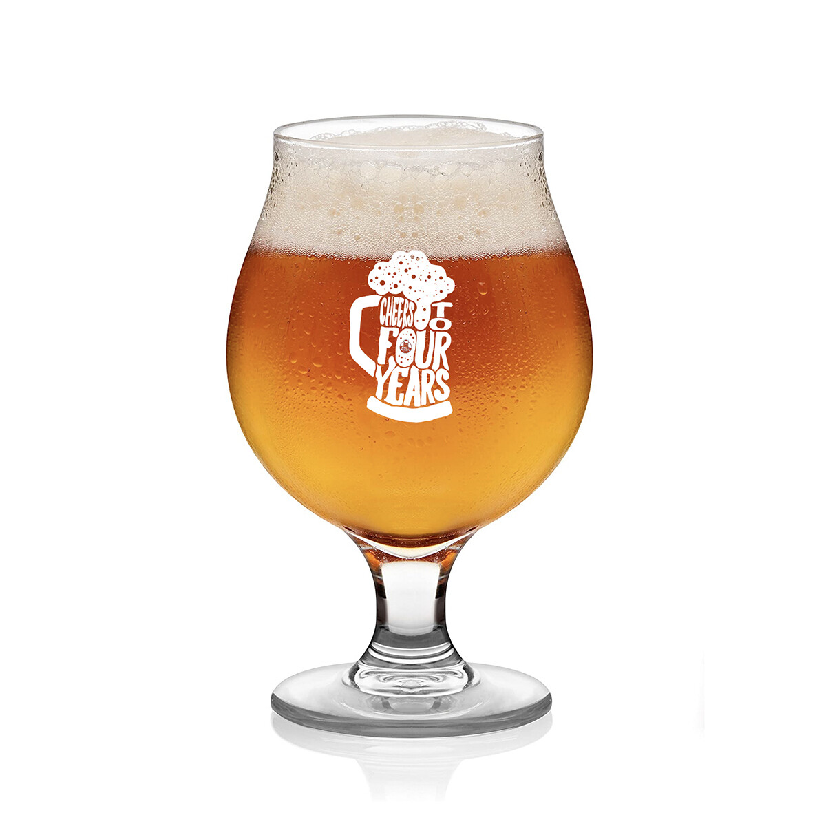Cheers to 4 Years - Anniversary  16 OZ Tulip Glasses (Pickup only in Tasting Room-check Social Media for Hours or call 615.490.6901 for details).