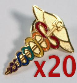 Caduceus Pin--Rainbow (Save 10% on a Bundle of 20)