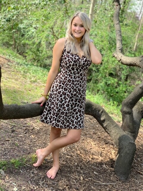 Dress Short Leopard Print Sleveless