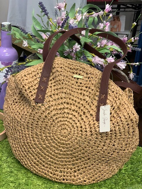 Handbag Round Natural
