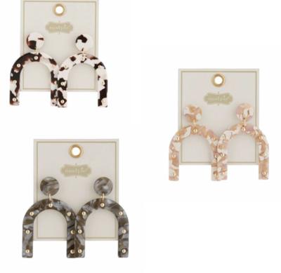 MP Studded Resin Earrings