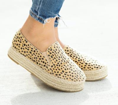 Cheetah Pony Hair Platform Shoe