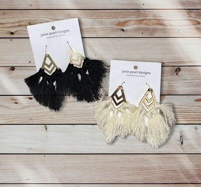 Clay Tassel Earrings