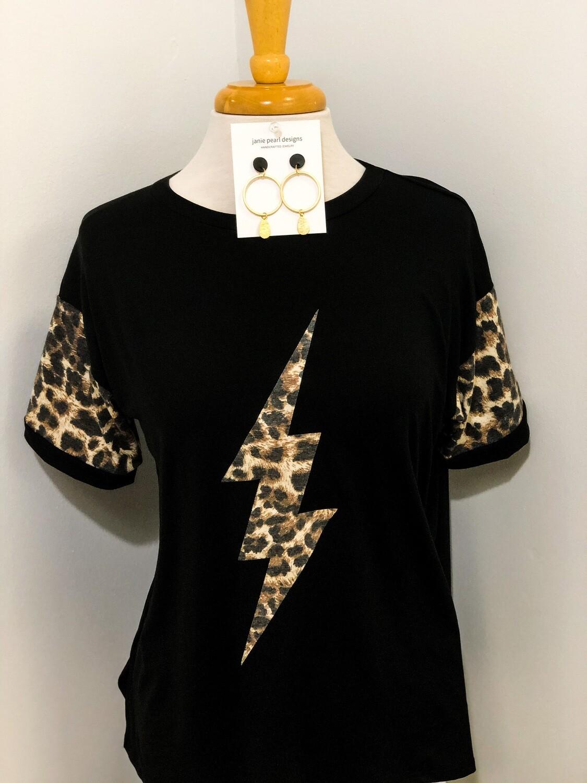 Leopard Lighting Bolt Top