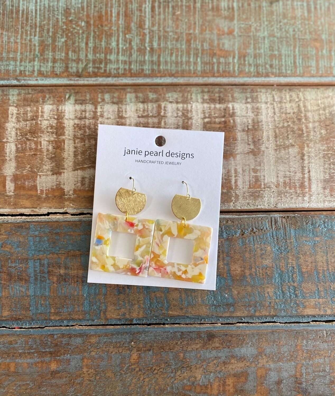 Acrylic Square Earrings