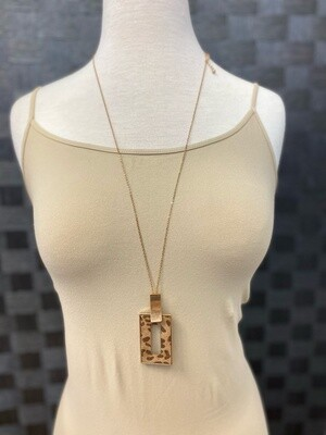 Rectangle Animal Print Necklace