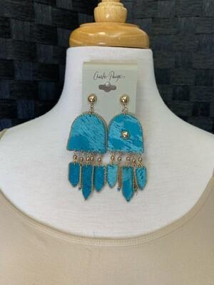 Leather Boho Earrings