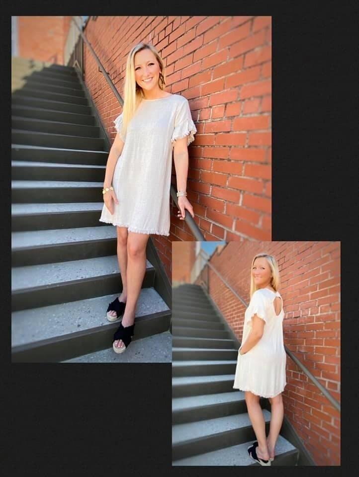 Linen Cutout Back Dress