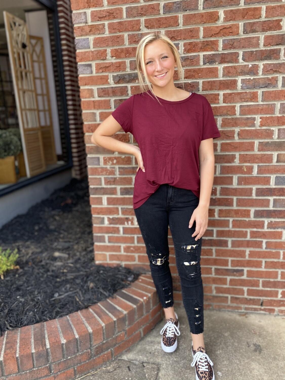 Black Animal Print Jeans