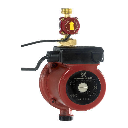 Grundfos In-Line Shower Booster UPA 120 with flow switch.