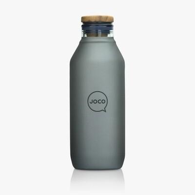 JOCO 20oz Velvet Grip Reusable Glass Flask - Black