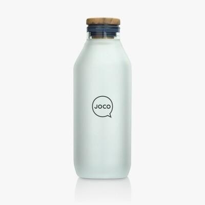 JOCO 20oz Velvet Grip Reusable Glass Flask - Neutral