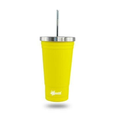 Cheeki 500ml Stainless Steel Insulated Tumbler - Lemon