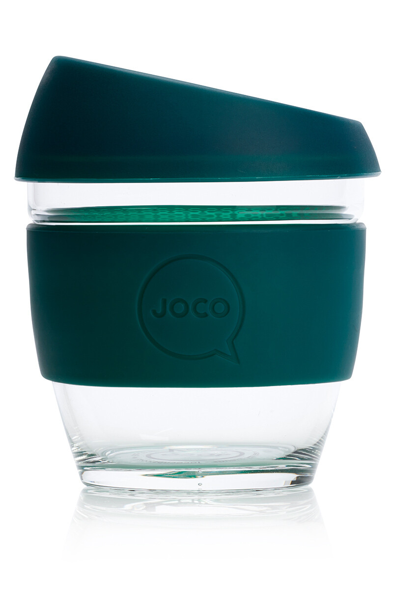 JOCO 8oz Reusable Glass Cup (Small Cup Size) – Deep Teal