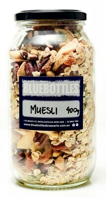 Bluebottles House-made Muesli 500g (Bag)
