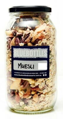 Bluebottles House-made Muesli 1kg (Bag)