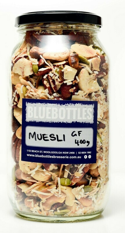 Bluebottles House-made Gluten-free Muesli 500g (Bag)