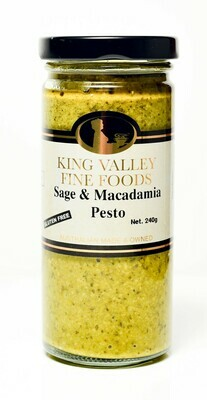 King Valley Fine Foods Sage & Macadamia Pesto 240g