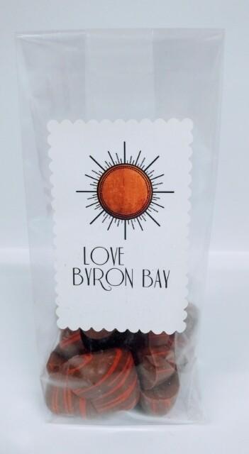 Love Byron Bay Milk Chocolate Strawberry Hearts 200g