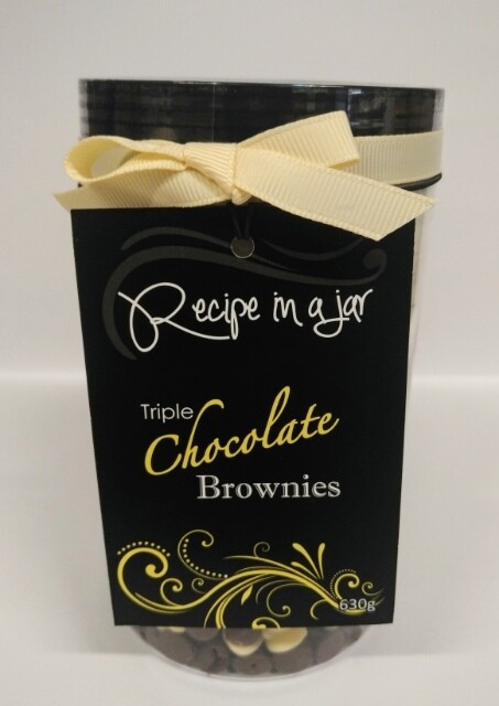 Recipe in a Jar - Triple Choc Brownie Mix Sml 630g